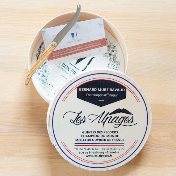 Kit Cadeau avec une boite à fromage en bois + un tote-bag + un mot personnalisé