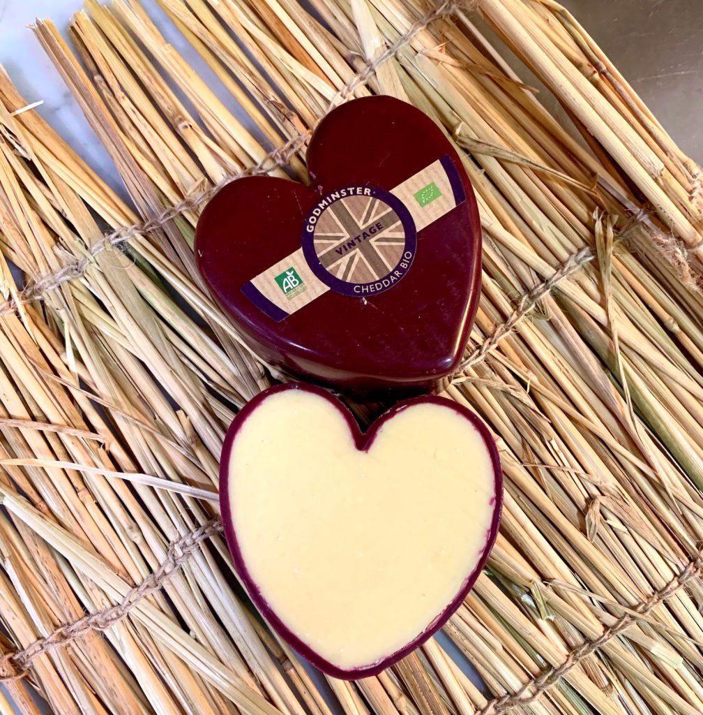 fromage en forme de coeur