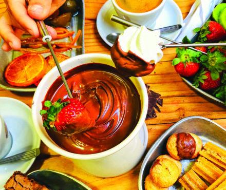 La fondue au chocolat, ou l'autre nom de la gourmandise
